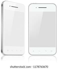 Two smartphones isolated