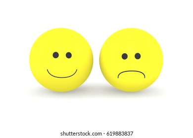 Two smileys. Illustration