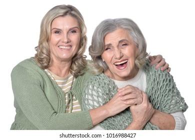 two smiling women