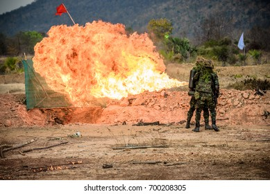 two solider with flamethrower