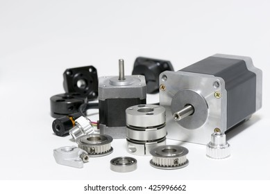 two stepping motors and mechanical parts