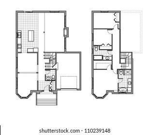 Two Storey Floor Plan