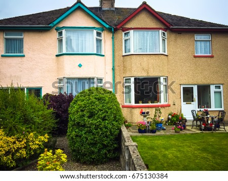 Two Story House English Garden Two Stock Photo Edit Now 675130384