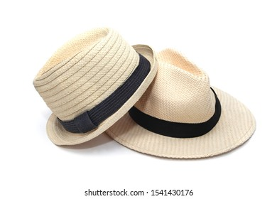 Two Straw Hat with black band