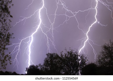 Two Strikes of Cloud to Ground Lightning