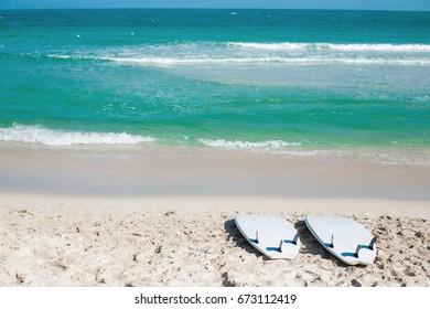 aa9b492c Two surfs lie on the seashore, ocean, sport, healthy lifestyle, outdoor  activities
