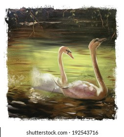 Two Swans Torn Edges