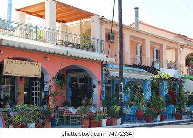 two taverna restaurants in kefalonia