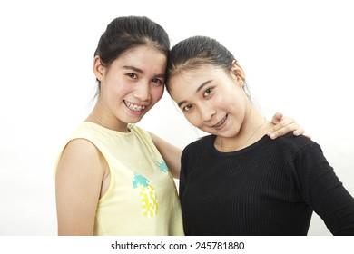 Two Teenage Girls Thailand