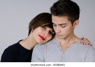 two teens portrait