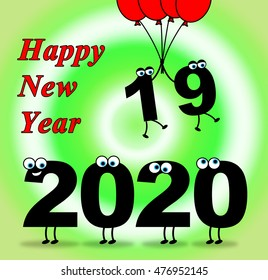 Two Thousand Twenty Indicating 2020 New Year 3d Illustration