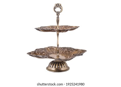 two tier tray plate on white background. isolated - Shutterstock ID 1925241980