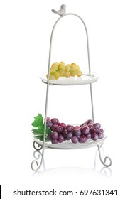two tiers serving tray, serving  fruit stand