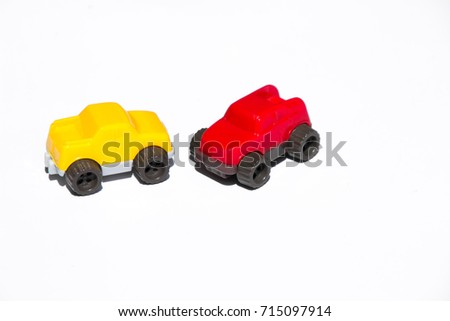 Two Tiny Simple Toy Cars Red Stock Photo Edit Now 715097914