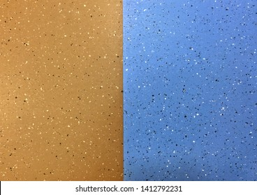 Two tone Brown and blue vinyl sheet flooring texture background