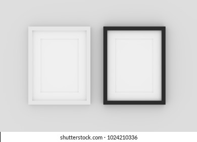 Two tone color of blank picture frame template for place image or text inside.