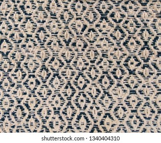 two tone color diamond twill weaving pattern, khaki/ blue cotton rope weave texture background