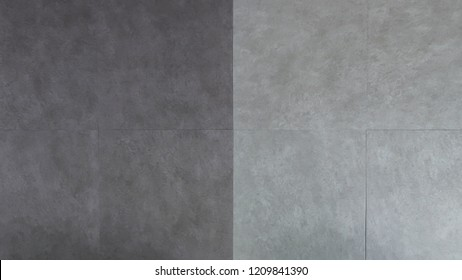 Two tone of Grey stone pattern vinyl tile floor texture background