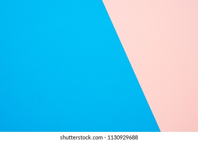Two tone pink blue color paper background with copy space
