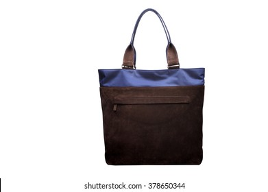 Two tone shoulder bag, commuter nylon tote bag. Men Accessories