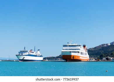 Two tourist  ships at the sea port