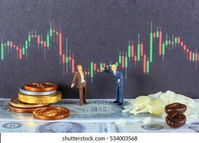 Two traders are making agreement for agricultural investment. 