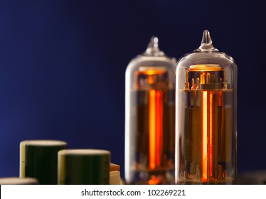 Two vacuum electron tubes