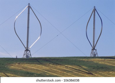 Vertical-axis Wind Turbine Images, Stock Photos & Vectors