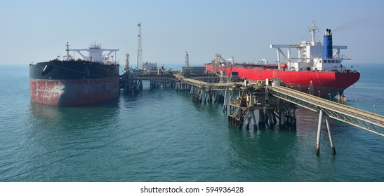 Two very large crude oil carriers alongside