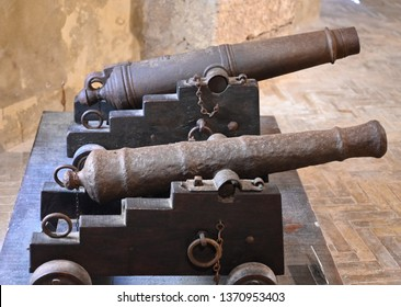 two very old cannon from the 1700s