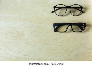 Two vintage eyeglasses