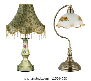 two vintage table lamps