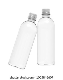 Two water bottles isolated on white background
