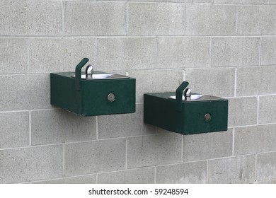 two water fountains