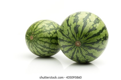 Two watermelons isolated on white background
