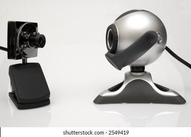 Two web-cams looking at each other