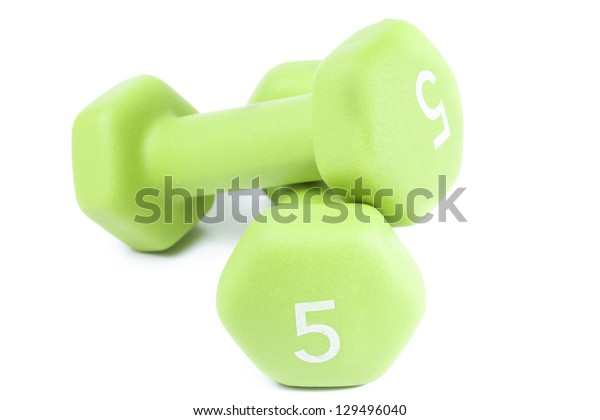 Two weigths for fitness on white background