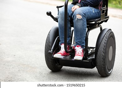 Two wheeled electric modern wheelchair. Body balance control.