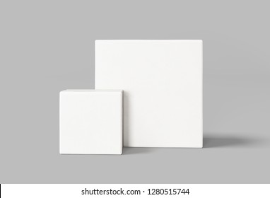 Two White Box Front view