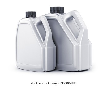 Two white canister on white background. 3d illustration