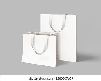 Two white shopping bag