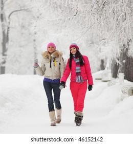 two winter woman