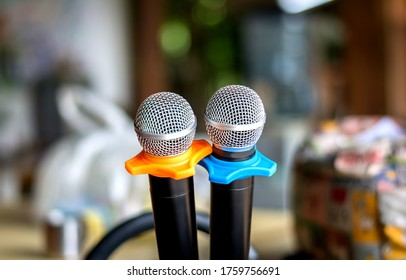 two wireless microphone ready to use