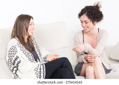 Two women having a good time
