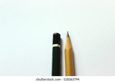 Two Wood pencil isolated on white