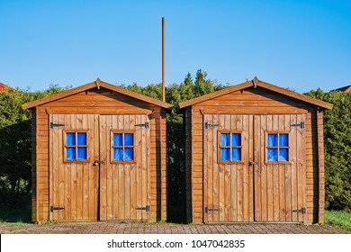Two Wooden Barn in Barsel, Germany