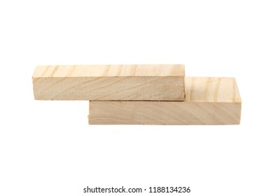 two wooden boards isolated on white background