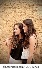 two young and beautiful girls