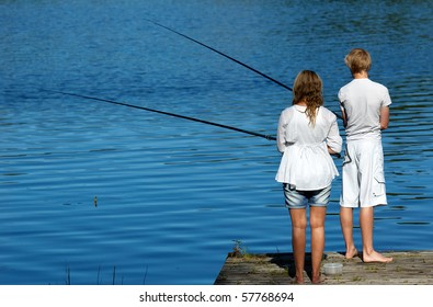two young fishers