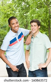 Two young male friends